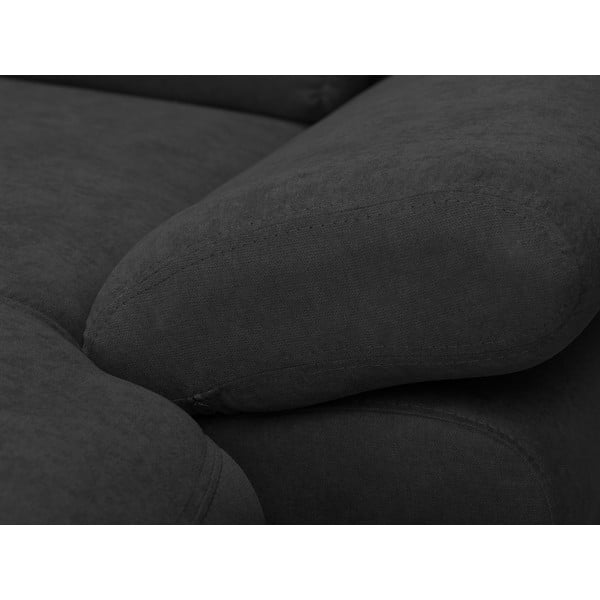 Tmavě šedá rozkládací rohová pohovka Windsor & Co Sofas Pi, pravý roh