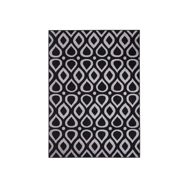 Černý koberec Vela, 200x290 cm