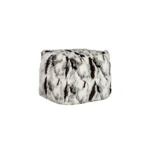 Sedací pytel Jolipa Bean Bag Fur White Black
