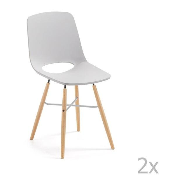 Sada 2 šedých jídelních židlí La Forma Kint