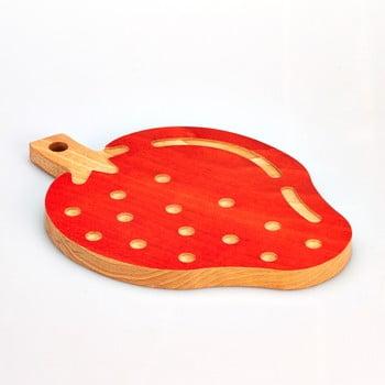 Tocător din lemn de fag Bisetti Strawberry, 23 x 32 cm