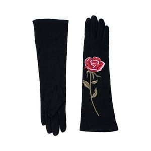 Černé rukavice Rosemary Lungo