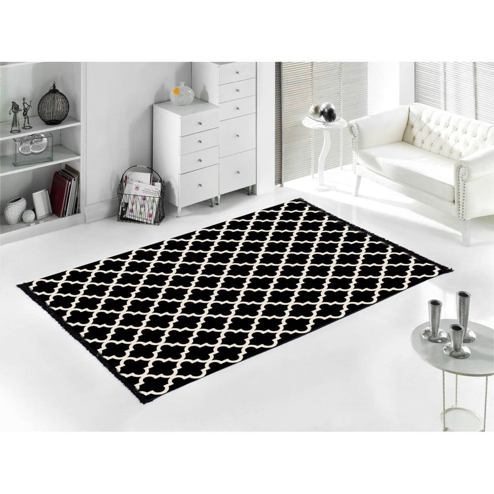 Černý koberec Home De Bleu Madalyon, 80 x 150 cm