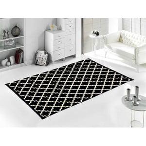 Černo-bílý oboustranný koberec Madalyon, 80x150cm