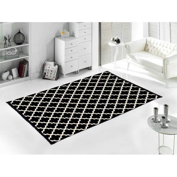 Černo-bílý oboustranný koberec CihanBilisimTekstil Madalyon, 80x150cm