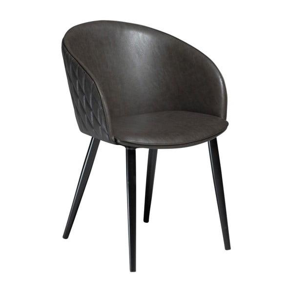 Ciemnoszare krzesło ze skóry ekologicznej DAN-FORM Denmark Dual
