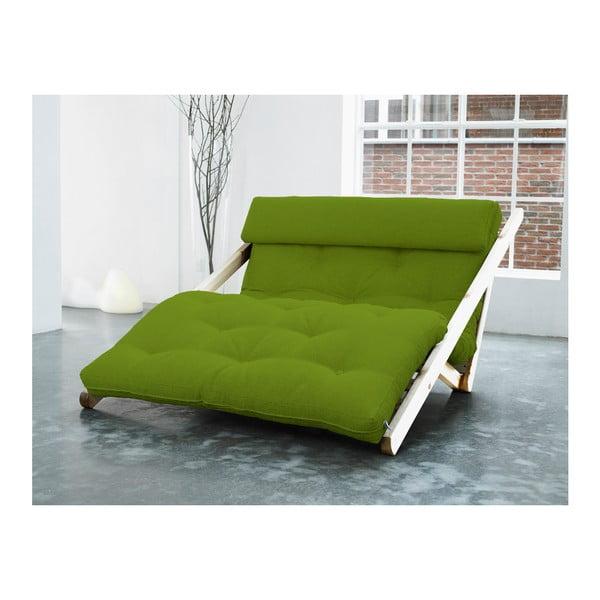 Fotoliu Karup Figo, Raw/Lime, 120 cm
