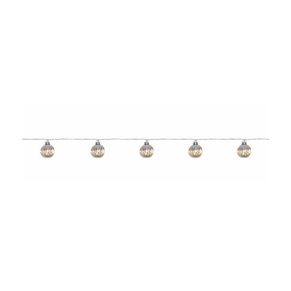 Ghirlandă luminoasă cu LED Markslöjd Solo, 10 becuri, argintiu