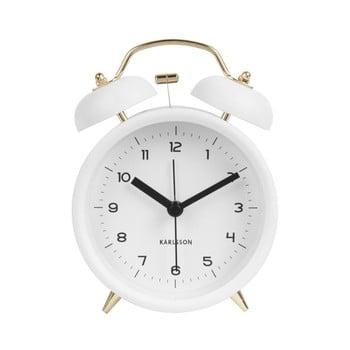 Ceas alarmă Karlsson Classic, alb, ⌀ 10 cm imagine