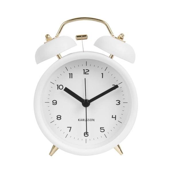 Ceas alarmă Karlsson Classic, alb, ⌀ 10 cm