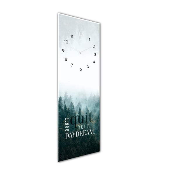 Ceas de perete din sticlă Styler Daydream, 20 x 60 cm