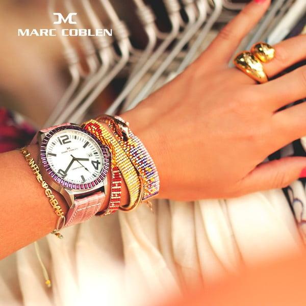Dámské hodinky Marc Coblen s páskem a kroužkem navíc P102