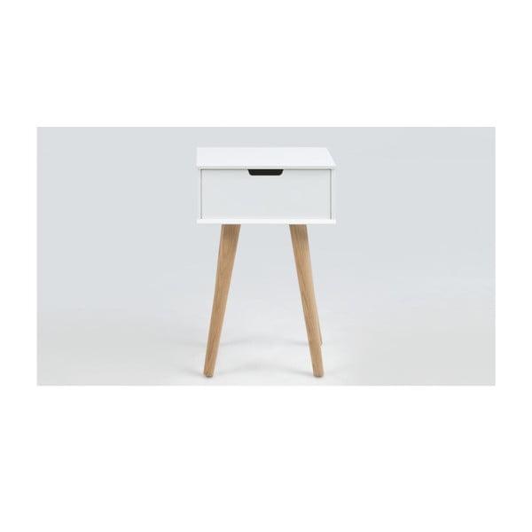 Bílý noční stolek Actona Mitra