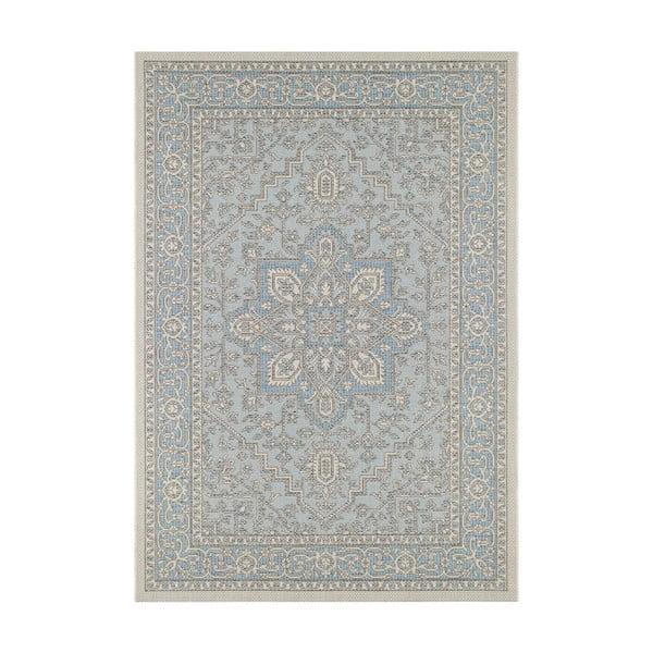 Niebiesko-beżowy dywan odpowiedni na zewnątrz Bougari Anjara, 140x200 cm