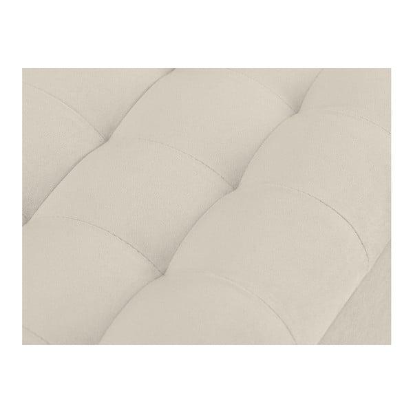 Krémový otoman s úložným prostorem Windsor & Co Sofas Nova, 160 x 47 cm