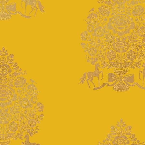 Tapeta Pip Studio President, 0,52x10 m, žlutá