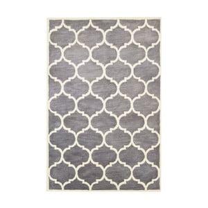 Ručně tuftovaný šedý koberec Bakero Florida, 183x122cm
