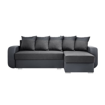 Canapea cu șezlong partea dreaptă Interieur De Famille Paris Destin gri antracit