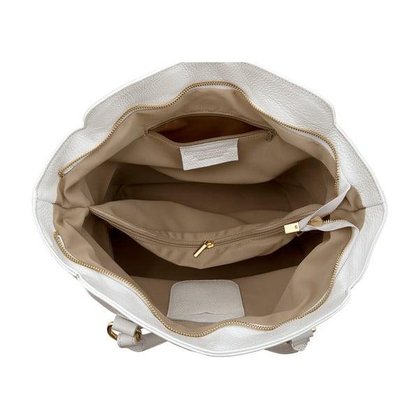 Kožená kabelka Gabriela, white