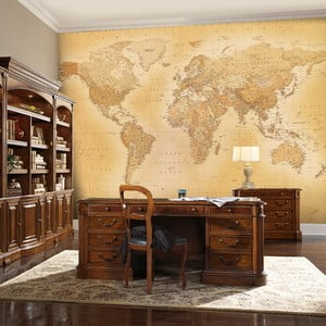 Velkoformátová tapeta Old Map, 315x232 cm
