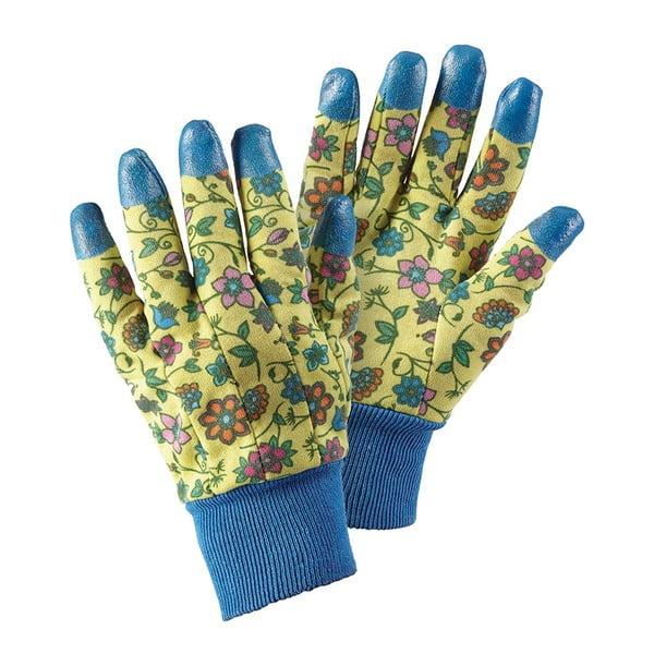 Zahradní rukavice s gumovými prsty Tapestry
