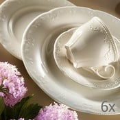 Set 6 cești din porțelan cu farfurioare Kutahya Elegance, 80 ml