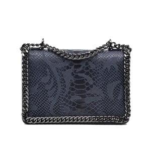 Tmavě modrá kožená kabelka Mangotti Sadia