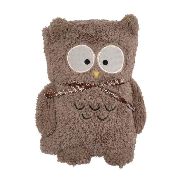 Hnědá deka smotivem sovy Le Studio Owl