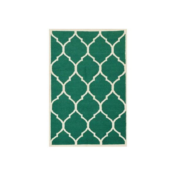 Ručně tkaný zelený koberec Green 140x200cm