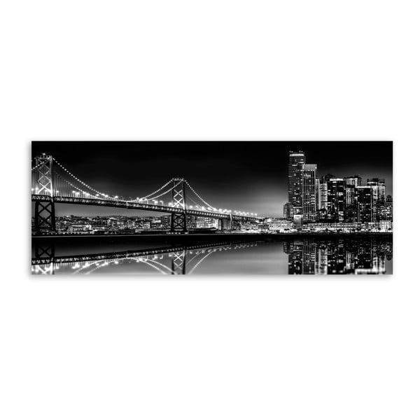 Obraz Styler Canvas Silver Bridge, 60 x 150 cm