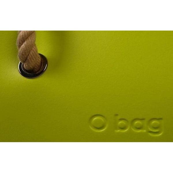 Taška O bag s černými uchy, světle zelená