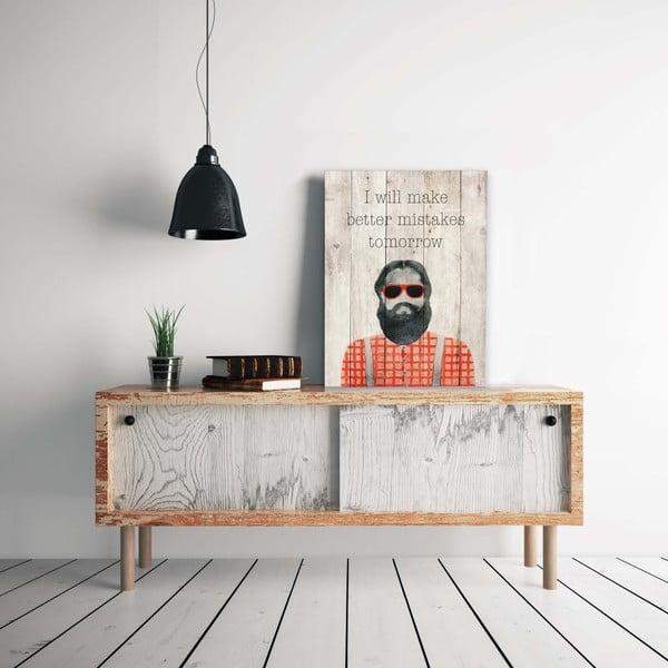 Dřevěná nástěnná dekorativní cedule Surdic Better Mistakes, 40 x 60 cm