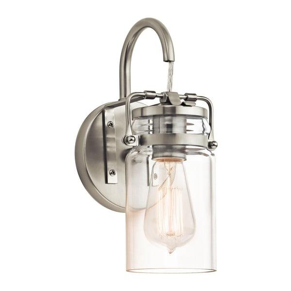 Nástěnné svítidlo ve stříbrné barvě Elstead Lighting Brinley Uno Brushed Nickel