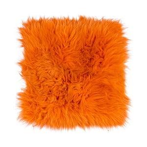Pernă din blană cu fir lung pentru scaun Orange, 37 x 37 cm, portocaliu