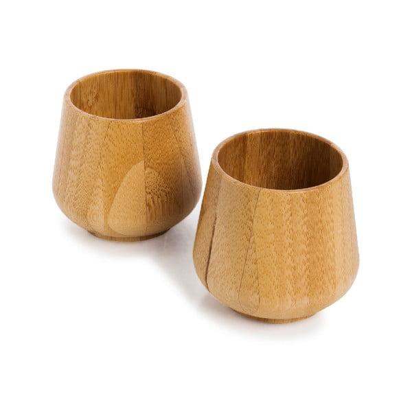 Sada 2 bambusových hrnčekov Bambum Gento, 225 ml