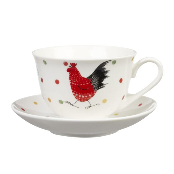 Hrnek s podšálkem Churchill China  Alex Clark Rooster, 200 ml
