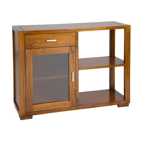 Dřevěný konzolový stolek se skříňkou a policemi Santiago Pons Mindi