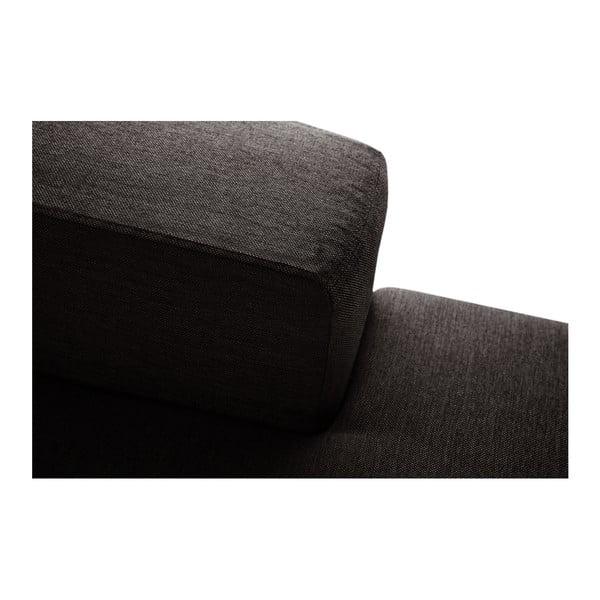 Tmavě hnědá sedačka Interieur De Famille Paris Perle, pravý roh