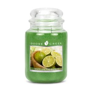 Vonná svíčka ve skleněné dóze Goose Creek Bílá limonáda s bambusem, 150 hodin hoření