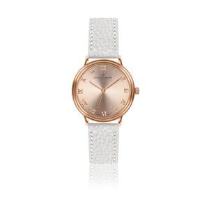 Dámské hodinky s bílým páskem z pravé kůže Frederic Graff Mandy