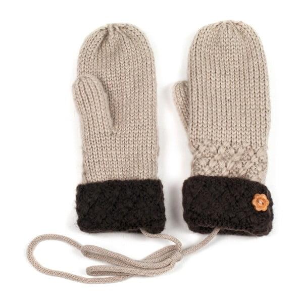 Béžové rukavice Tina