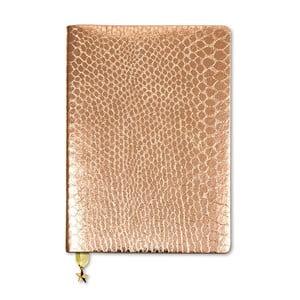 Zápisník A5 v bronzové barvě GO Stationery All That Glitters Croc