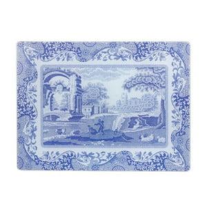 Bílomodrá skleněná podložka na linku Spode Blue Italian