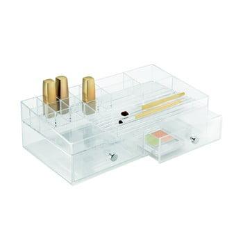 Organizator transparent iDesign Drawer Cosmetic, 32 x 18 cm de la iDesign
