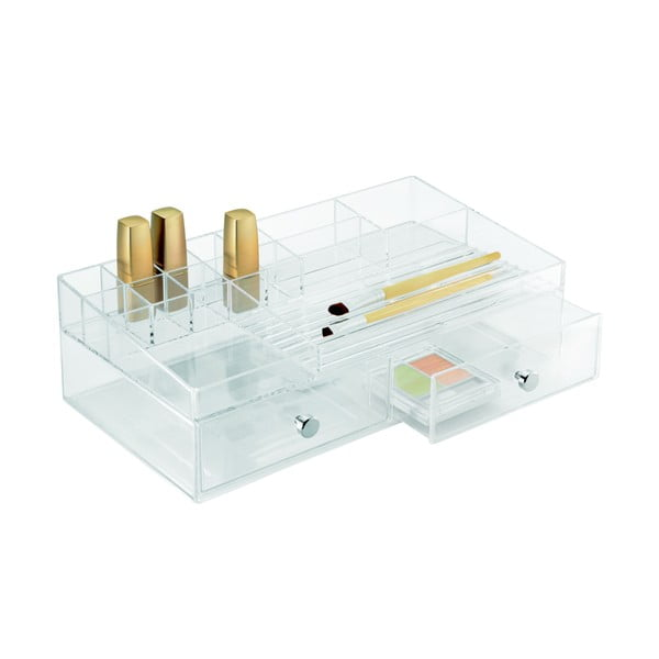 Organizator transparent iDesign Drawer Cosmetic, 32 x 18 cm
