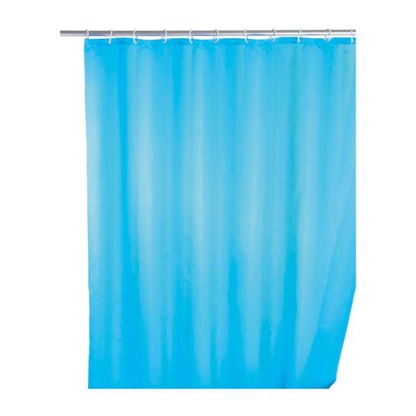 Perdea duș anti mucegai Wenko, 180x200cm, albastru deschis