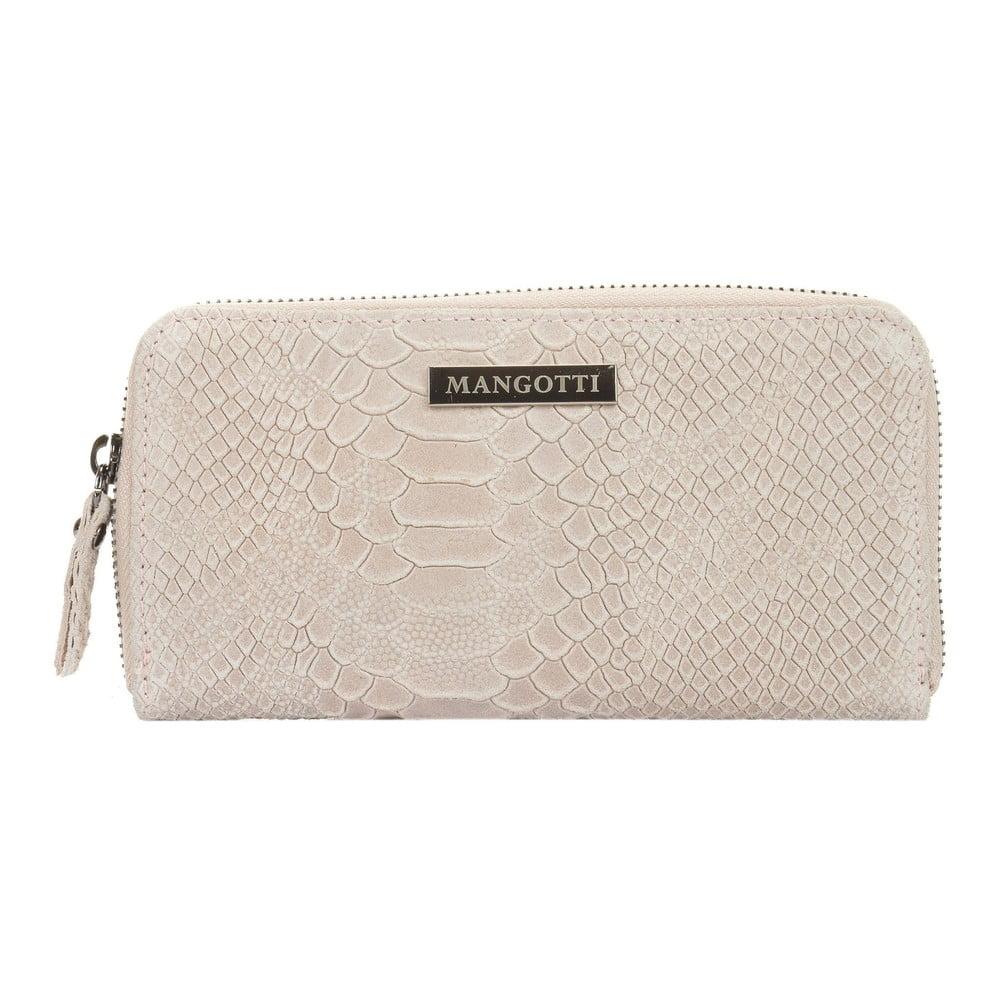Světle béžová kožená peněženka Mangotti Bags Zuna