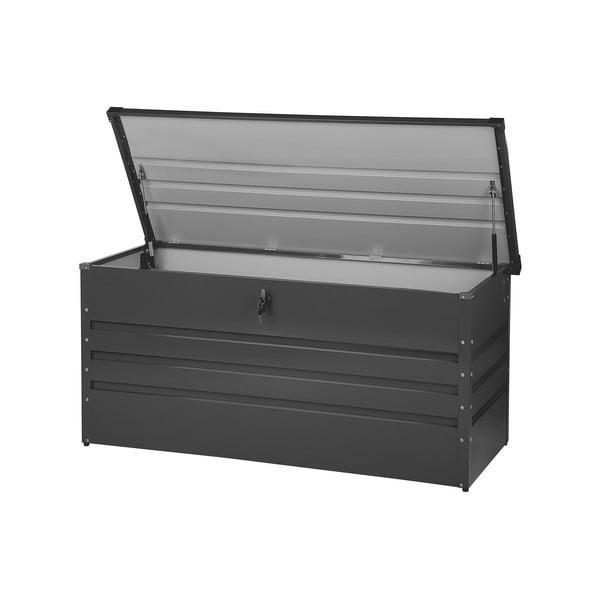 Tmavě šedý zahradní úložný box Monobeli Oklahoma, 132 x 62 cm