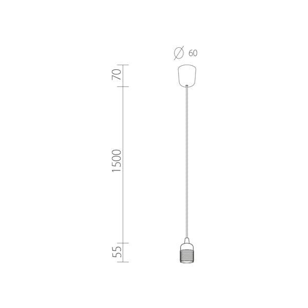 Závěsný kabel Uno, černá/stříbrná