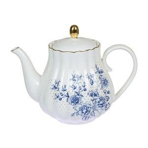 Ceainic din porțelan Santiago Pons Bohem, alb - albastru